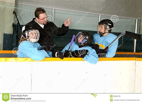 players bench hockey hockey coach on bench with players royalty free stock photo image 22264755
