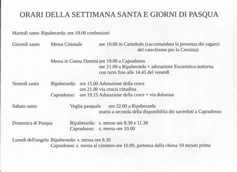 settimana santa 2016 orario celebrazioni parrocchia sant egidio abate ripaberarda monte misio