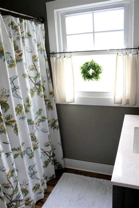 shower curtain as window treatment 10 ideas about bathroom window curtains on pinterest