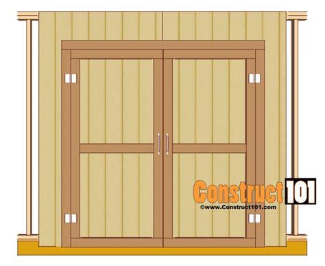shed door plans step  step construct door plan