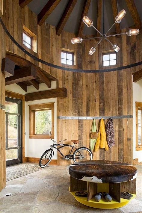 Turret Home with Rustic Interiors