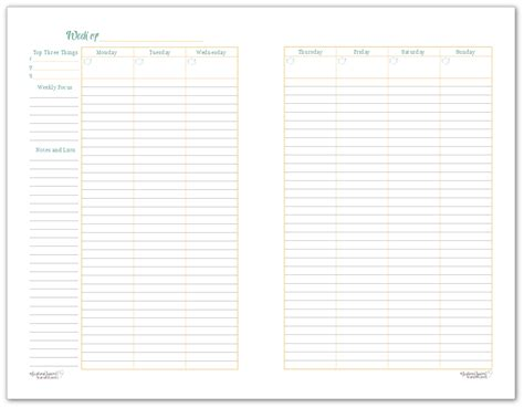 printable weekly planner 2 page a variety of weekly planner printables for your planners