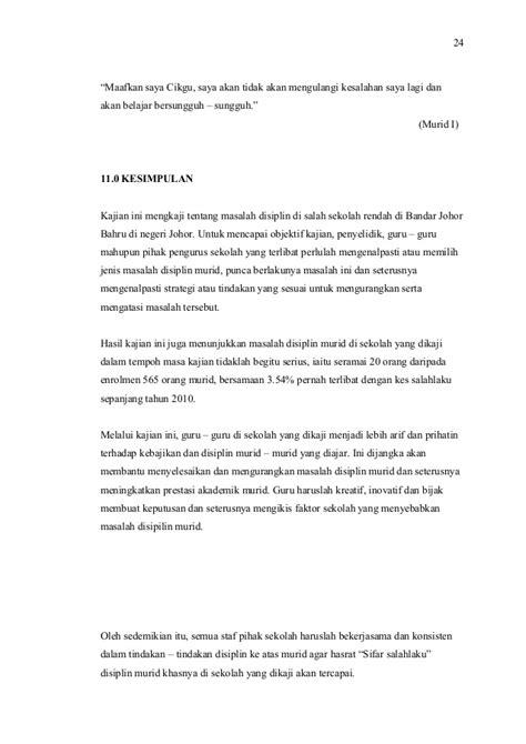 format laporan disiplin murid pengurusan pembelajaran tajuk kajian tindakan mengenai