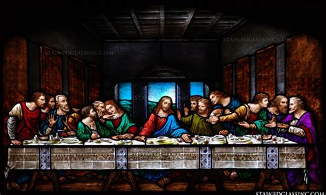 The Last Dinner quot the last supper quot religious stained glass window