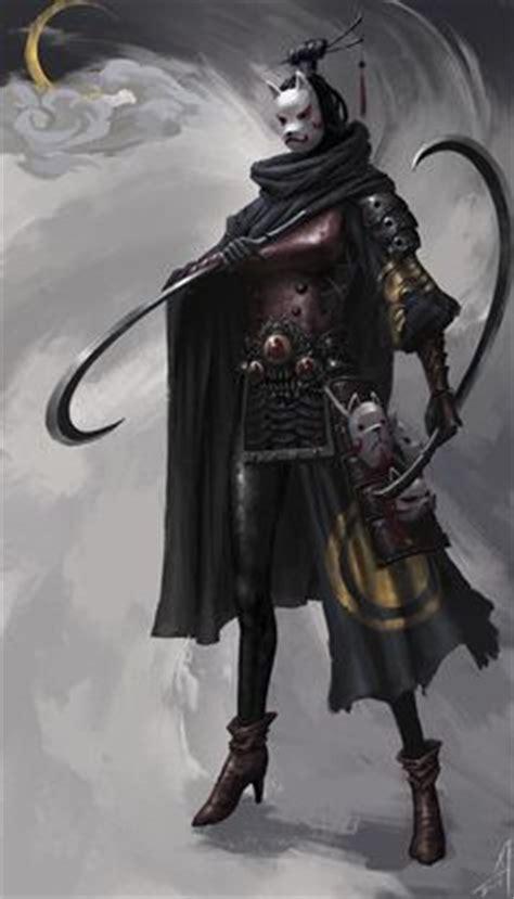 ninja assassin tattoo master pzo00 by operion paizo female thief ninja assassin fighter