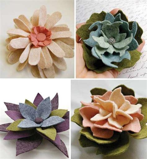 fiori feltro modelli come creare fiori in feltro foto pourfemme