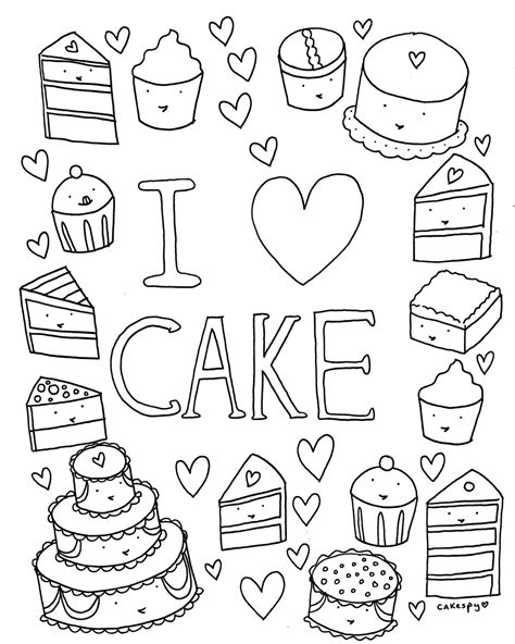 Coloring Book 1 free coloring book page i cake cakespy