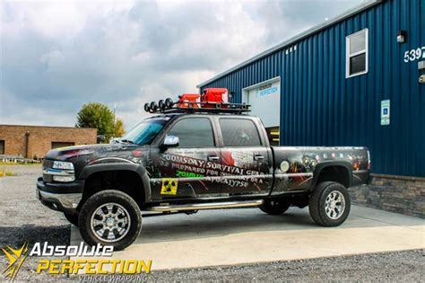 zombie survival truck zombie apocalypse truck wrap vehicle wrapping