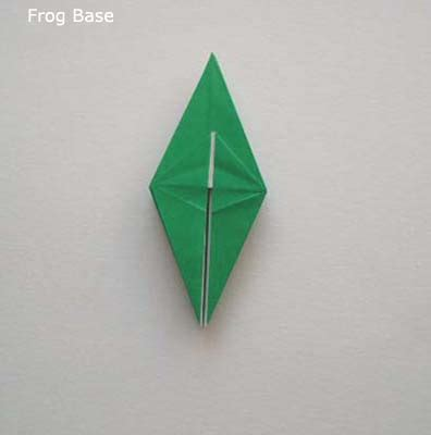 Origami Frog Base - origami how to make an origami frog