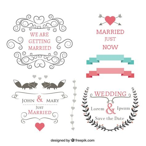 Wedding Banner Vector by Wedding Banners Set Vector Free