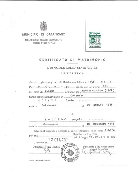 Italian Marriage Records Italian Marriage Record Icap