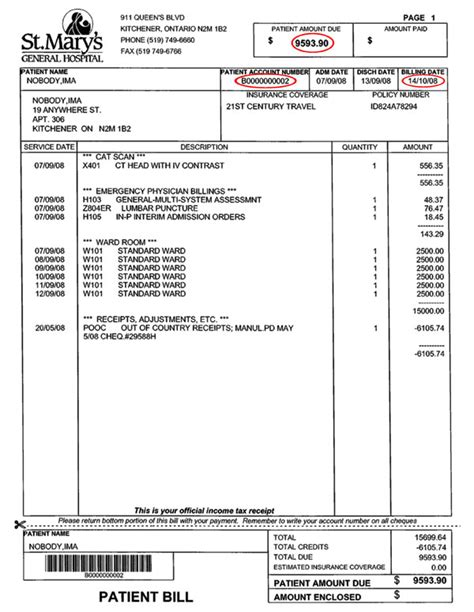 pharmacy bill template pharmacy invoice and record of home iv therapy hit
