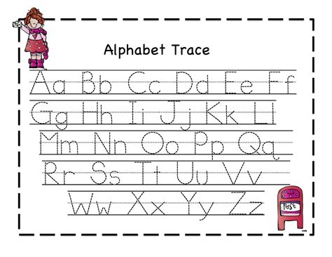 printable tracing letters for pre k pre kindergarten letter tracing worksheets pre k