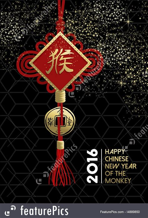new year monkey information happy new year monkey traditional sign stock