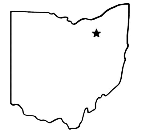 state of ohio outline clip art 21