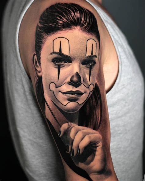 clown girl tattoo clown best design ideas