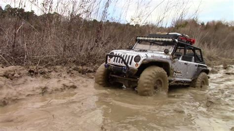 mud jeep axial scx10 jeep wrangler rubicon journey to find mud