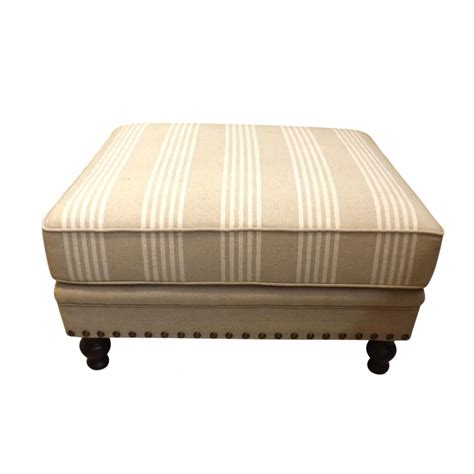 ottoman in french european design french upholstered ottoman in linen