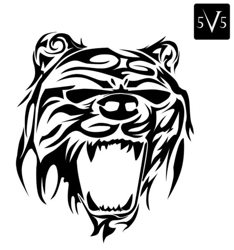 tribal bear tattoos angry tribal designs ideas