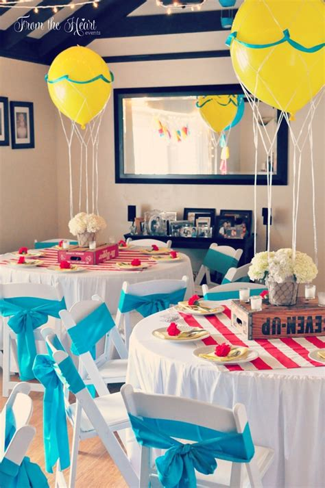 Air Balloon Themed Baby Shower by 15 Baby Shower Themes For Pretty My