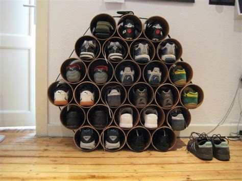 pvc shoe storage diy pvc pipe projects for your home