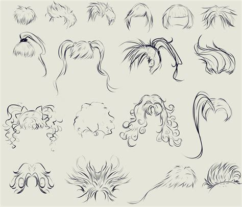 anime hairstyles female images this anime hair reference sheet by ryky is all you need to