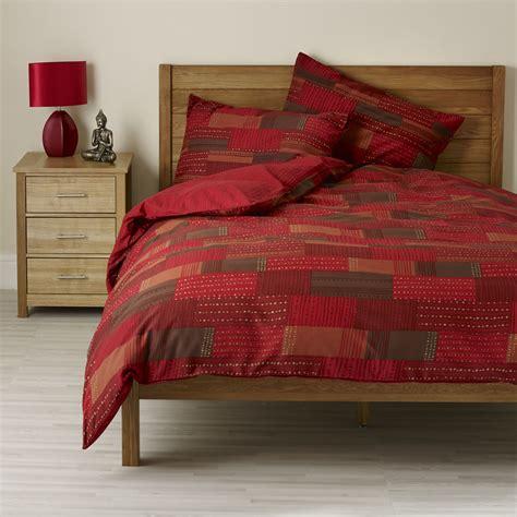 red comforter cover wilko patchwork duvet set red double at wilko com