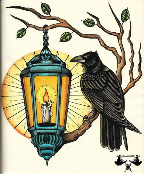 traditional lantern tattoo flash and lantern by tausend nadeln