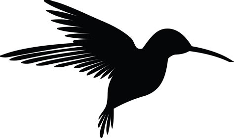 free clipart silhouette free clipart of a silhouetted flying hummingbird
