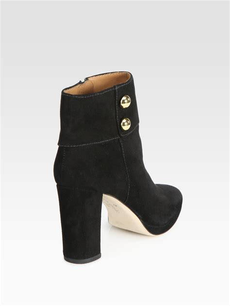 kate spade boots kate spade bridgette suede ankle boots in black tabacco