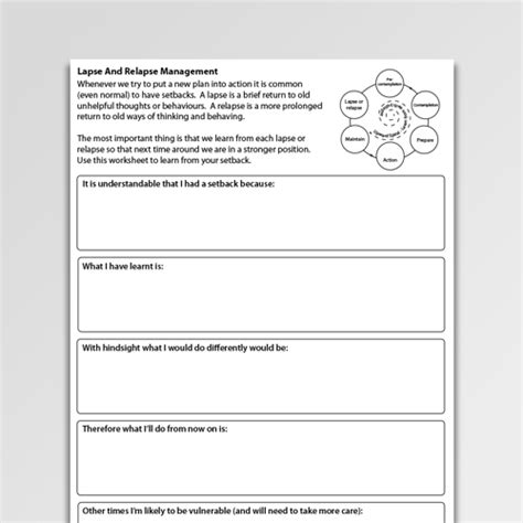 addictions worksheets  professionals    psychology tools