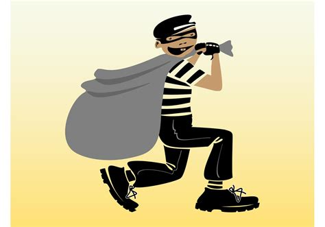 A Thief by Vector Thief Free Vector Stock Graphics