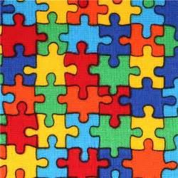 Kindergarten Halloween Crafts - kawaii fabric with colourful jigsaw puzzle pieces usa dots stripes checker fabric kawaii