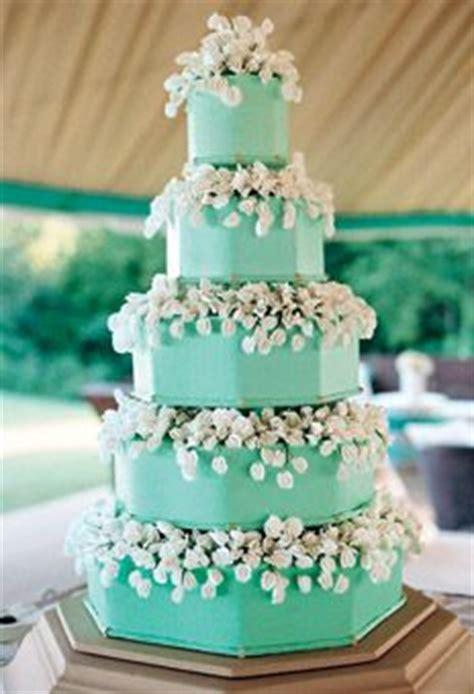 blue wedding cake with sugar flowers