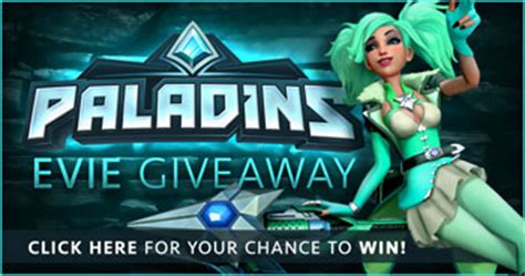 Paladins Giveaway Codes - paladins evie giveaway free codes the escapist