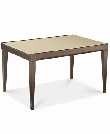 Cafe Latte Dining Table Caf 233 Latte Glass Top Dining Table Furniture Macy S