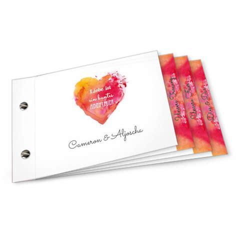 einladungskarten hochzeit booklet moderne hochzeitseinladung mit watercolourlook in orange