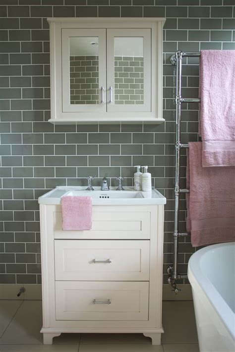 pink and grey bathroom accessories bathroom makeover grey brick tiles and pink accessories