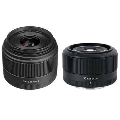 Sigma 19mm F 2 8 Ex Dn For E Mount sigma 19mm f 2 8 ex dn lens and 30mm f 2 8 ex dn lens kit b h