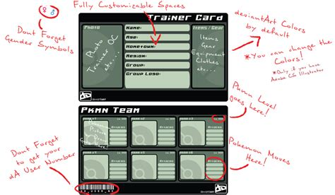 card template deviantart trainer card template by catenergy on deviantart