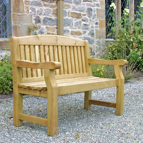 wooden bench for garden zest 4 leisure emily two seat 4ft wooden garden bench