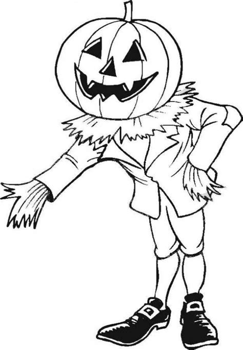 free coloring pages of cartoon pumpkin