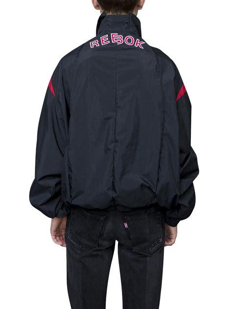 Sweater Hoodie Zipper Jaket Reebok lyst vetements x reebok track jacket in blue for