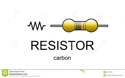 carbon resistor schematic symbol carbon resistor icon and symbol stock illustration image 27014501