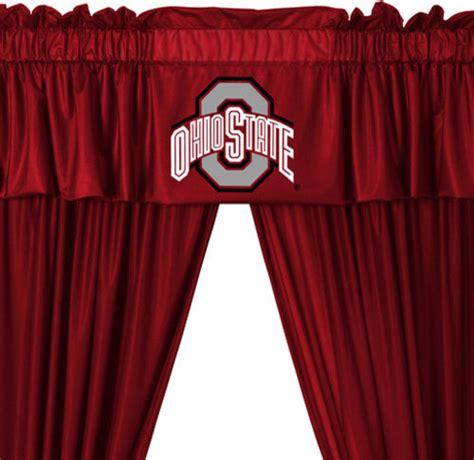Ncaa Ohio State Buckeyes College 5 Piece Valance Curtains Set