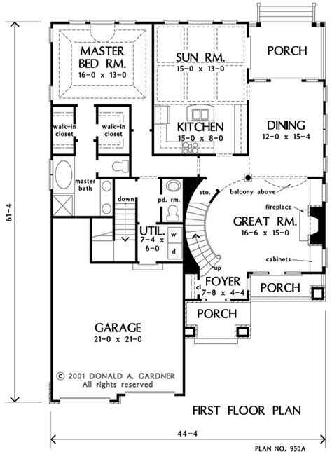 Grand Staircase Floor Plans by House Plan The Wicklow By Donald A Gardner Architects