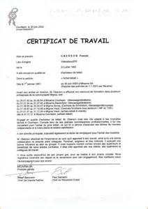 9 exemple de certificat de travail lettre de demission