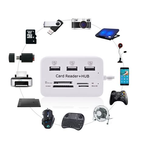 Usb Hub 3 Port Card Reader Combo Murah usb hub combo card reader 3 usb 2 0 sd tf m2 msduo port