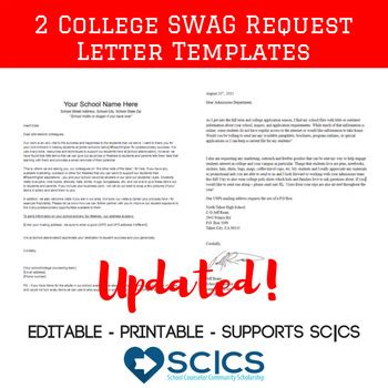 College Letter Mail College Materials Request Letter Get College Swag In The Mail