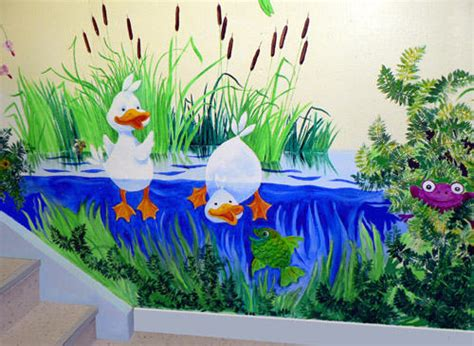 day care wall mural pre school wall paintings